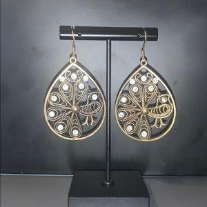 Metal Peacock Earrings